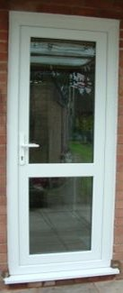 Fully Glazed Back Door with Midrail